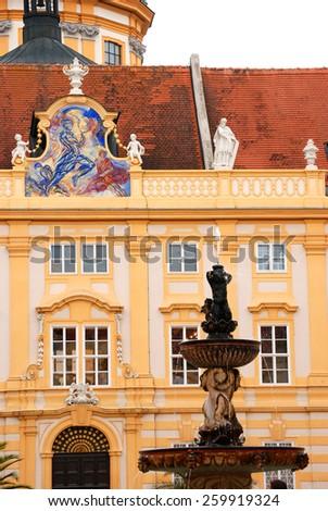 Abbey Melk  Melk abbey is a famous benedictine monastery in Austria  - stock photo