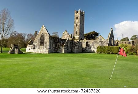 Abbey of Adare golf club - Ireland - stock photo
