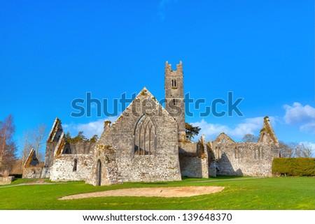 Abbey of Adare in Ireland - stock photo