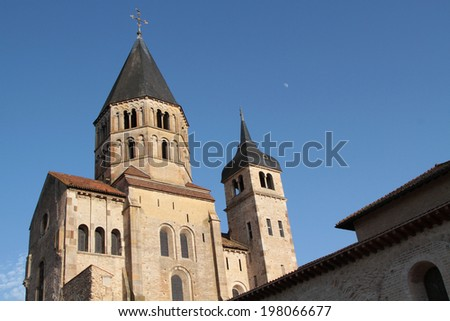 Abbey of Cluny bell tower. Abbey of Cluny is the symbol of the monastic revival in the Middle Ages.
