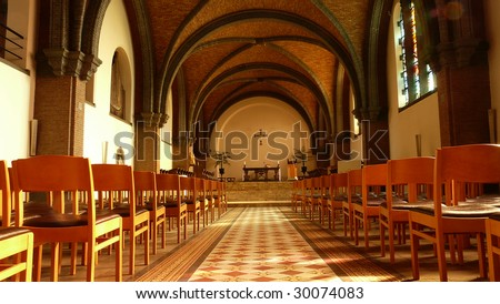 abbey of keizerberg church interior leuven Belgium