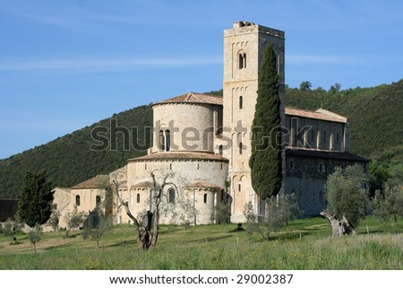 Abbey of Sant' Antimo in Tuscany