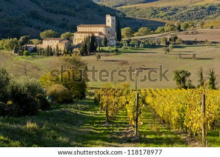 Abbey of Sant'Antimo, Tuscany, Italy