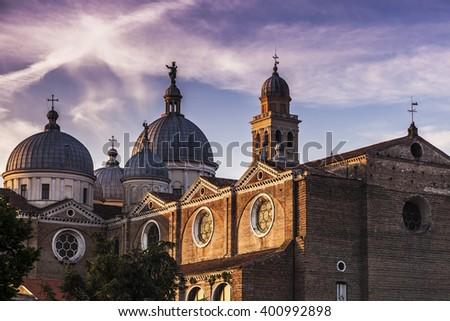Abbey of Santa Giustina in Padua. Padua, Veneto, Italy - stock photo