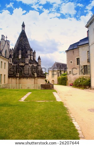 abbey with kitchen house in val d`loire france