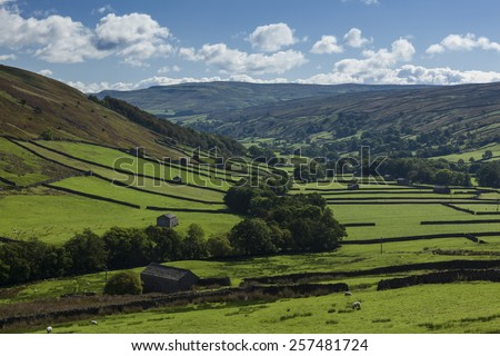 Abbotside Common, between Swaledale and Wensleydale - stock photo