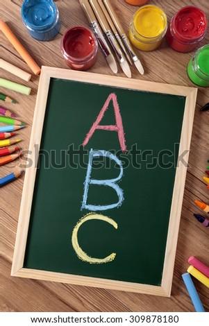 ABC alphabet - stock photo