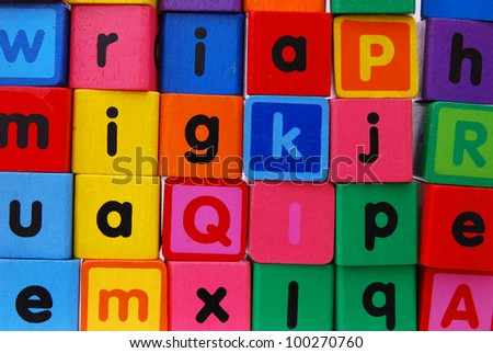 ABC alphabet block background - stock photo