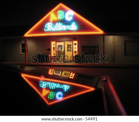 ABC Billiard Store Front - stock photo
