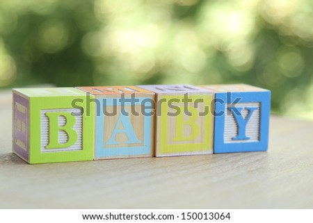 ABC Blocks/Alphabet blocks - stock photo