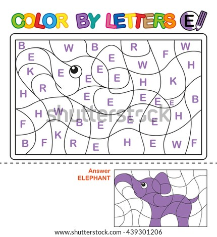 ABC Coloring Book Kids Color By Stock Illustration 439301206 ...