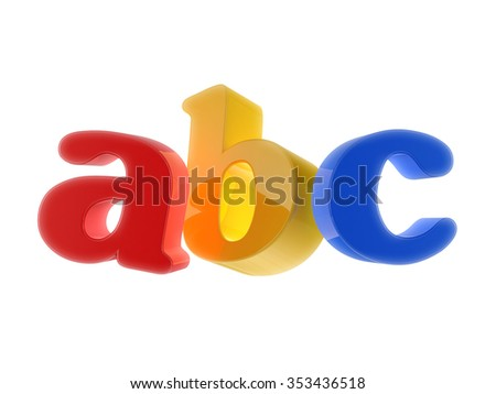 ABC Letters - stock photo