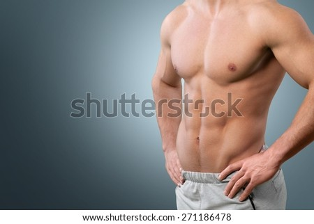 Abdominal Muscle. Fit torso - stock photo