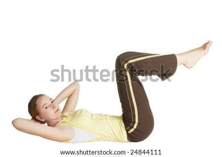 abdominal muscles - stock photo