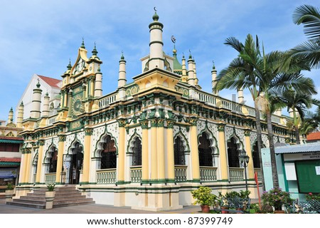 Abdul Gafoor Mosque Of Singapore Is A Gazetted  National Monument - stock photo