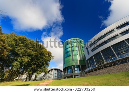 ABERDEEN SCOTLAND - 17 SEPTEMBER 2015 The Robert Gordon University (RGU) in Aberdeen on September 17, 2015. RGU is one of  the UK's top Universities in oil and gas industry.