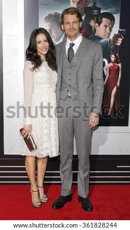 "Abigail Spencer and Josh Pence at the Los Angeles premiere of ""Gangster Squad"" held at the Grauman's Chinese Theatre in Los Angeles, California, United States on January 7, 2013.  - stock photo"