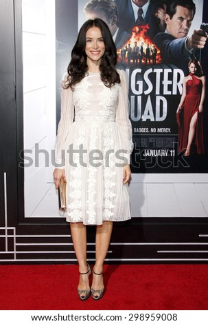 Abigail Spencer at the Los Angeles premiere of 'Gangster Squad' held at the Grauman's Chinese Theatre in Hollywood on January 7, 2013.  - stock photo