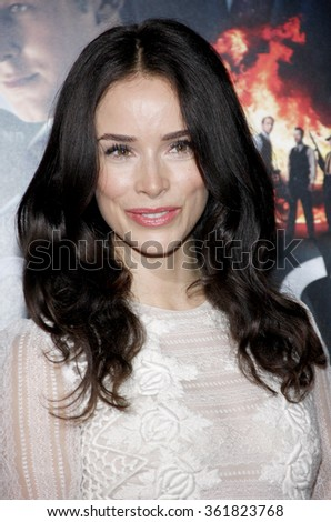 "Abigail Spencer at the Los Angeles premiere of ""Gangster Squad"" held at the Grauman's Chinese Theatre in Los Angeles, USA on January 7, 2013. - stock photo"