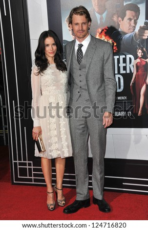 "Abigail Spencer & Josh Pence at the world premiere of his movie ""Gangster Squad"" at Grauman's Chinese Theatre, Hollywood. January 7, 2013  Los Angeles, CA Picture: Paul Smith - stock photo"