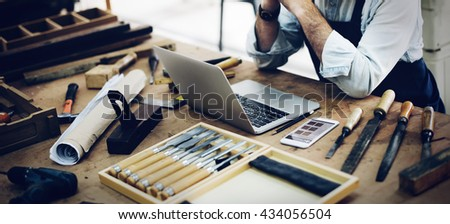 Ability Activity Career Capenter Occupation Skill Concept - stock photo