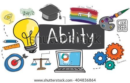 Ability Capability Creativity Drawing Icon Illustration Concept - stock photo