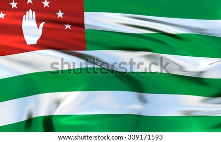Abkhazia Flag. 3d illustration