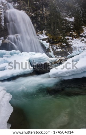 about falls in winter - stock photo