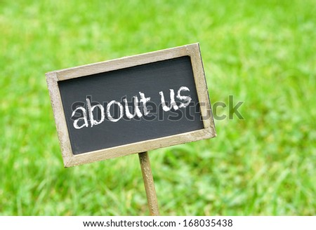 about us - stock photo