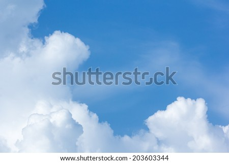 above cloud gradient blue sky background only - stock photo