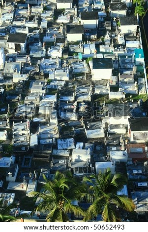 Above ground tombs in the cemetery in Luquillo, Puerto Rico