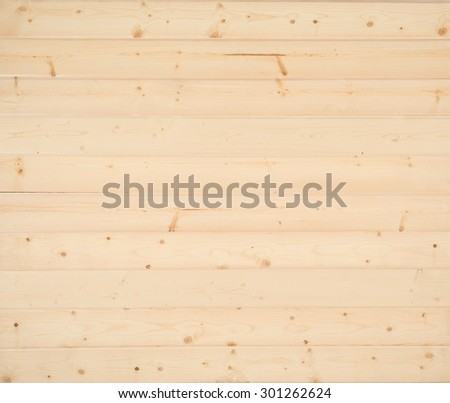 Above view of  New Rustic Natural Pine Shiplap Boards Background with Room or Space for copy, text, words, your design.  Unfinished, no paint, horizontal.   - stock photo