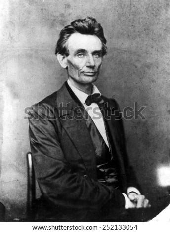Abraham Lincoln 1860. - stock photo