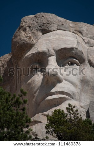 Abraham Lincoln at Mt. Rushmore National Memorial
