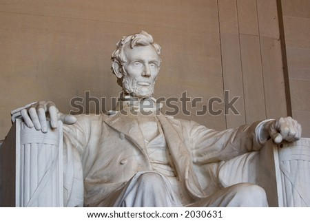 Abraham Lincoln, Close-up View - stock photo