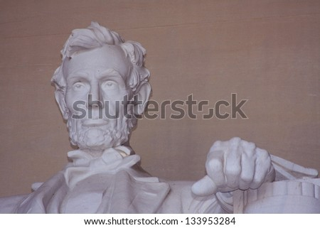 Abraham Lincoln's Marble Statue in the Lincoln Memorial
