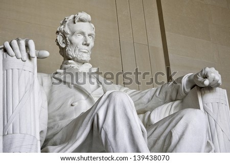 Abraham Lincoln Statue - stock photo