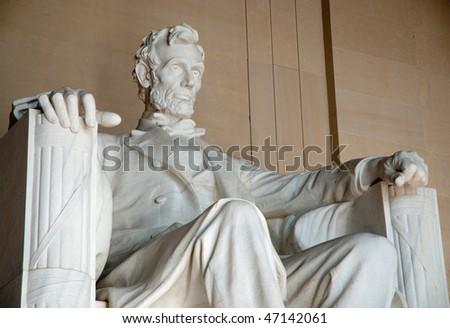 Abraham Lincoln statue - stock photo