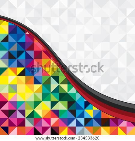 Absract trendy background of geometric pattern. Raster version - stock photo