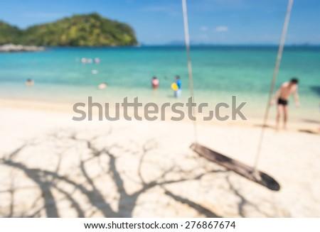 Abstact blur on the beach at Andaman sea - stock photo