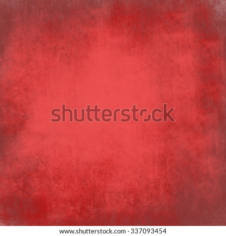 abstrac red  background design, border has dark pink and peach color edges of rough distressed vintage grunge texture, pale soft opaque white center - stock photo