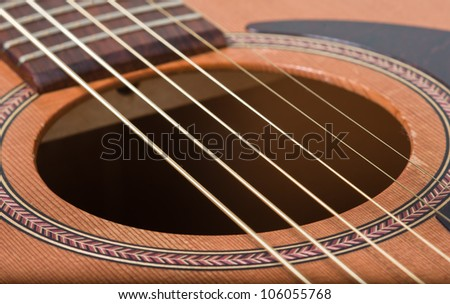 abstract acoustic guitar - stock photo