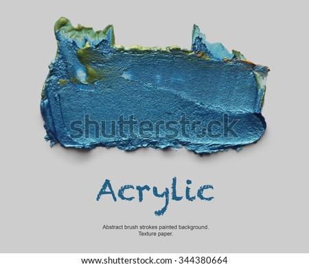 Abstract acrylic and watercolor brush strokes painted background. - stock photo