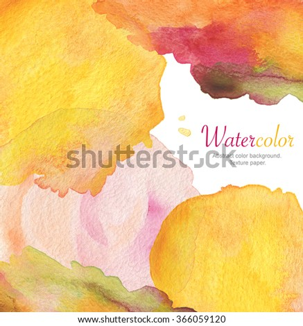 Abstract acrylic and watercolor brush strokes painted background. Texture paper. - stock photo