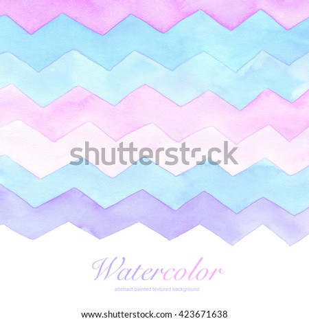 Abstract acrylic and watercolor painted background. Paper texture. - stock photo