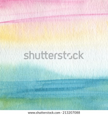 Abstract acrylic and watercolor painted background.Paper textured. - stock photo