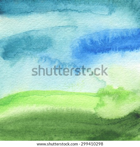 Abstract acrylic and watercolor painted background. Texture paper. - stock photo