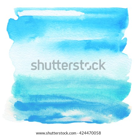 Abstract acrylic and watercolor painted frame. Texture paper background. - stock photo