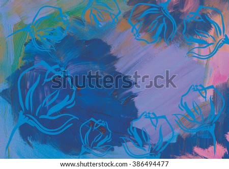 abstract acrylic art background, hand made drawing. suitable for a variety of  art  designs and scrapbooking.