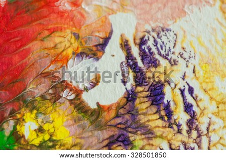 Abstract acrylic color background, art painting by hand on paper